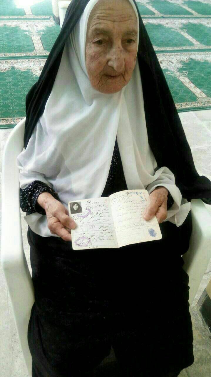 عکس | حضور مادربزرگ ۹۹ ساله در انتخابات!