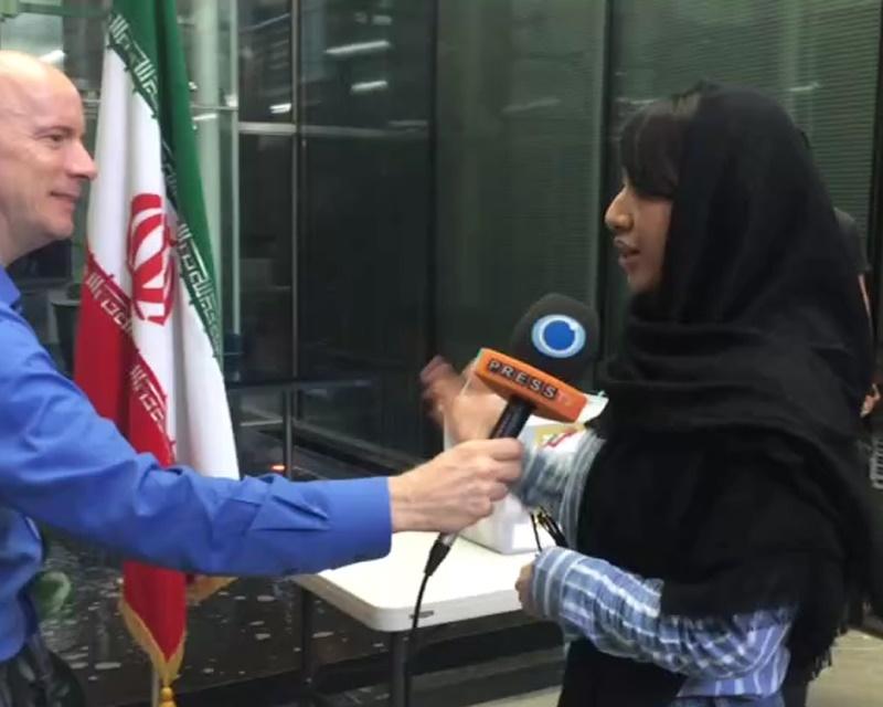 فیلم   دختر ایرانی- کرهای از دلایل خود برای شرکت در انتخابات میگوید   به آینده ایران رای میدهم
