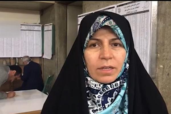 فیلم   زهرا احمدیپور: فارغ از نتیجه انتخابات، مردم همدل و همراه خواهند بود
