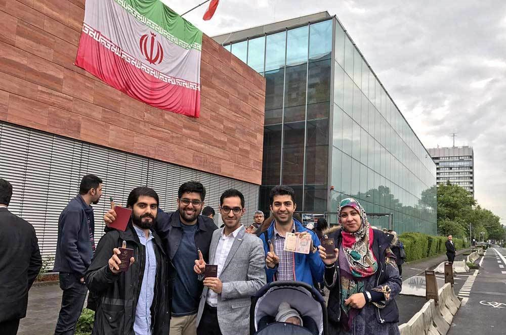 تصاویری از برگزاری انتخابات ریاستجمهوری ایران در اروپا