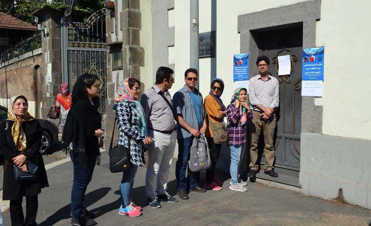 تصاویر | حضور ایرانیان مقیم ایتالیا، لندن، سوئد و نروژ در انتخابات ریاستجمهوری