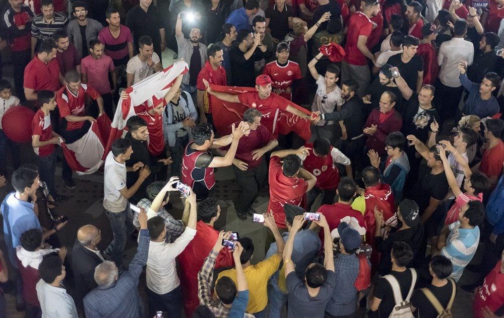 جشن لیگ برتری شدن تیم سپیدرود
