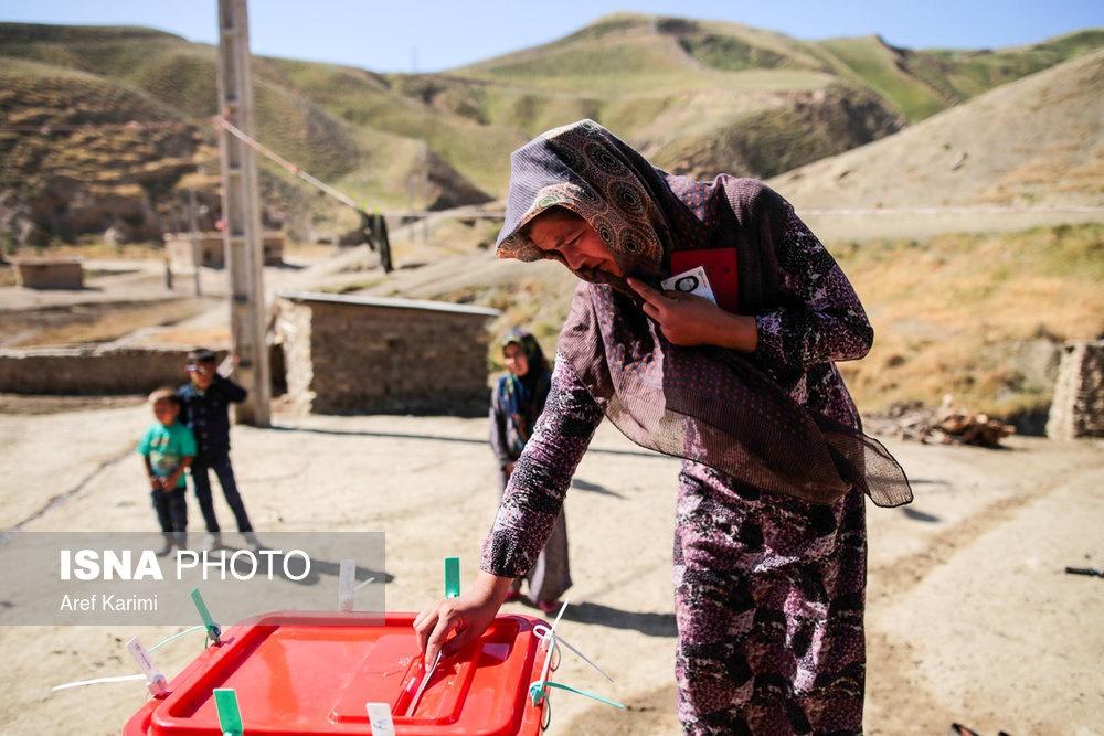 تصاویر | دشواریهای رای گرفتن از روستاهای دورافتاده