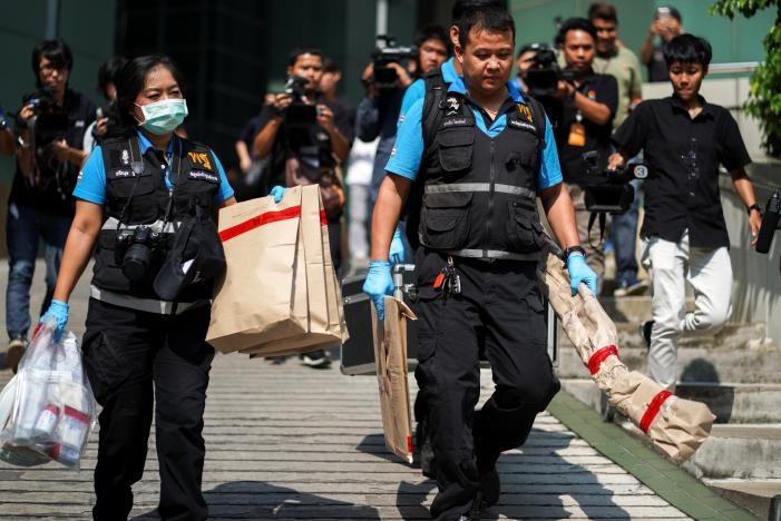 تصاویر   انفجار بمب در یک بیمارستان بانکوک با ۲۴ زخمی