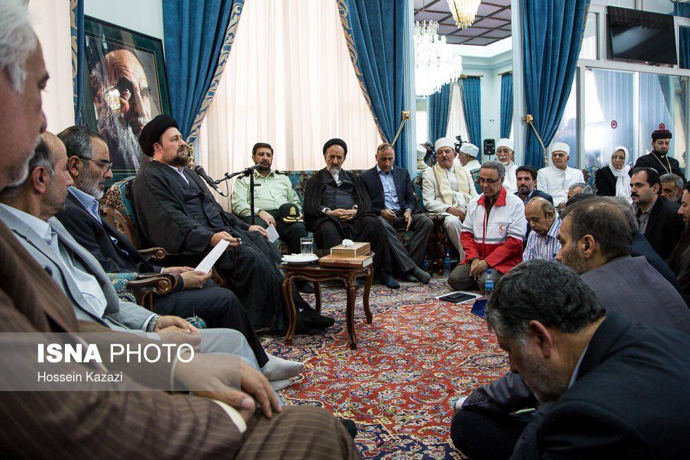 تصاویر   دیدار سیدحسن خمینی با اعضای ستاد بزرگداشت امام(ره)