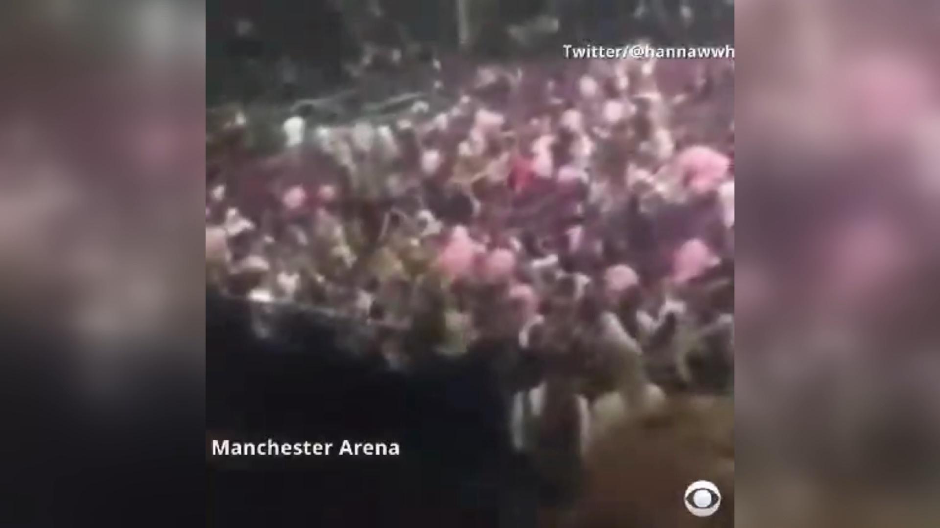 فیلم   لحظاتی پس از انفجار در سالن کنسرت منچستر