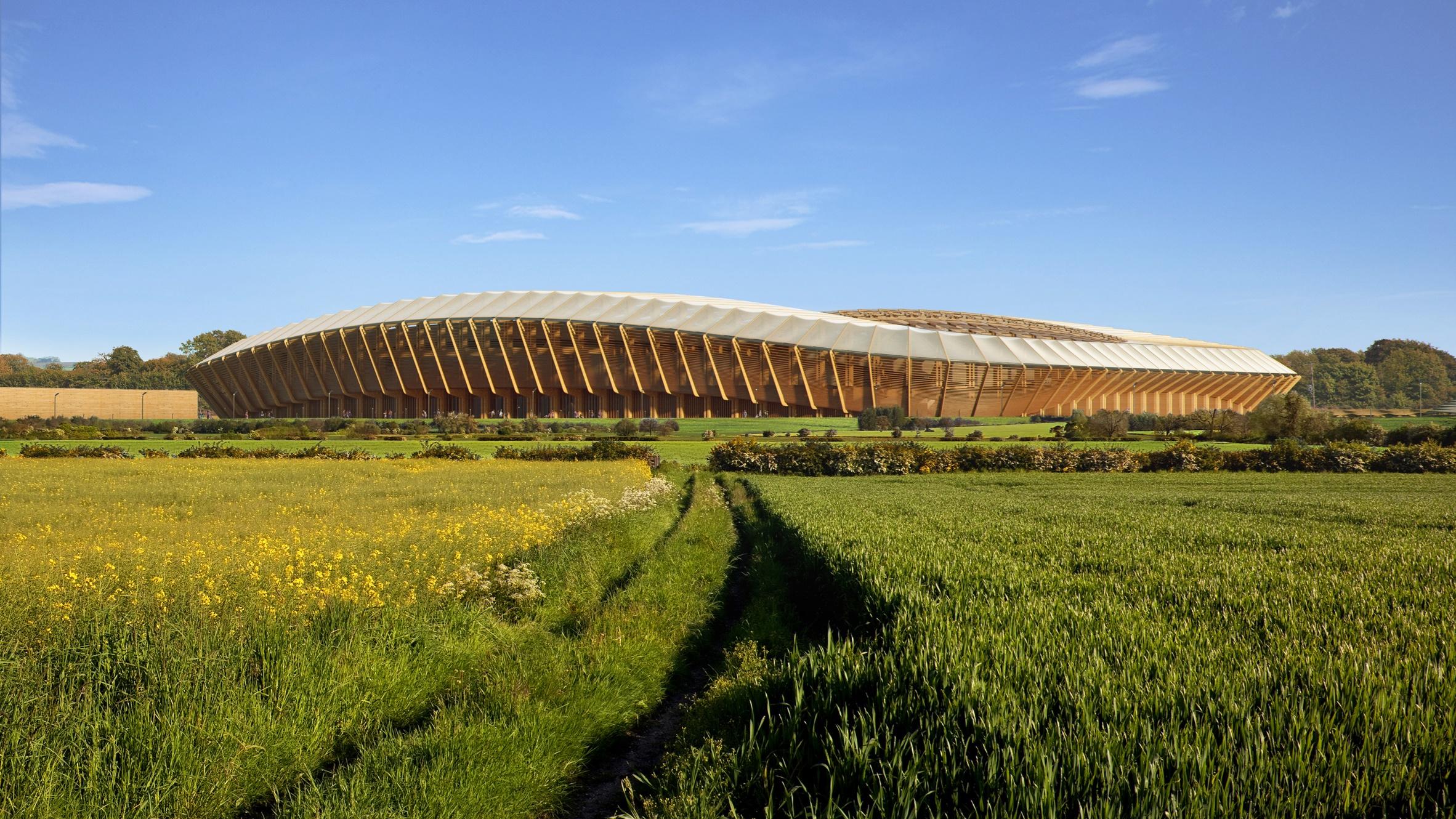 تصاویر   نخستین استادیوم چوبی جهان؛ کاملا دوستدار محیط زیست