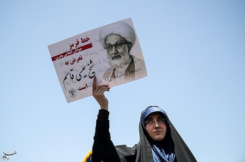 تصاویر | راهپیمایی نمازگزاران تهرانی در حمایت از شیخ عیسی قاسم