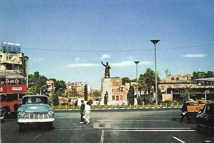 عکس | میدان فردوسی سال ۱۳۴۵