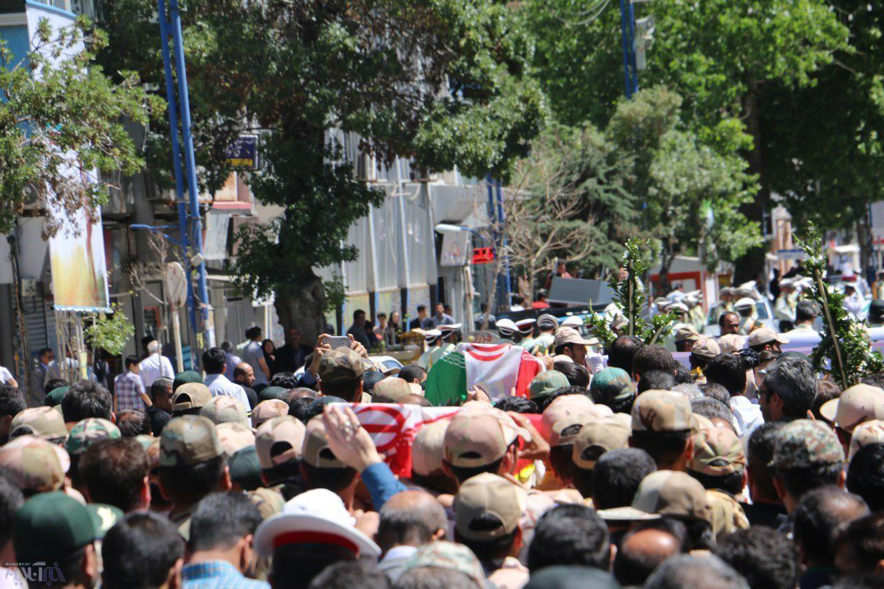 تشییع پیکر شهدای هنگ مرزی ارومیه