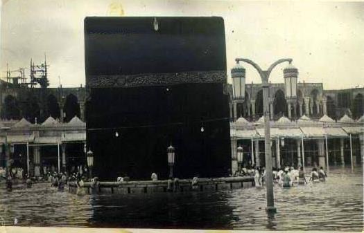 عکس | کعبه در سیل ۱۹۴۱