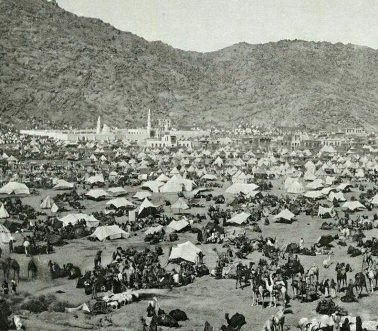 عکس | عربستان ۱۸۸۹ | تصویری از اسکان زائران در مکه