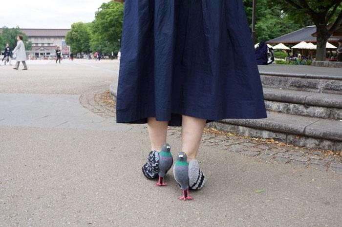 تصاویر | کفشهای کبوتری خانم ژاپنی!