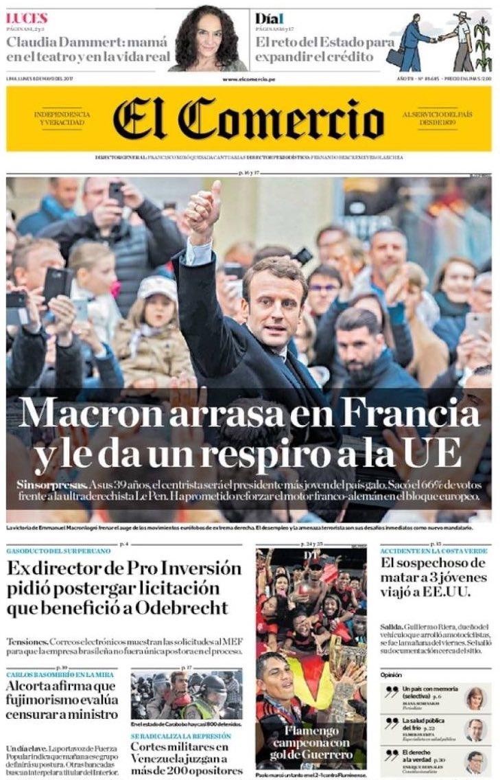 تصاویر   بازتاب انتخاب رئیسجمهور جدید فرانسه در رسانههای جهان