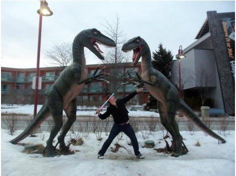 تصاویر   شوخی با مجسمههای شهری