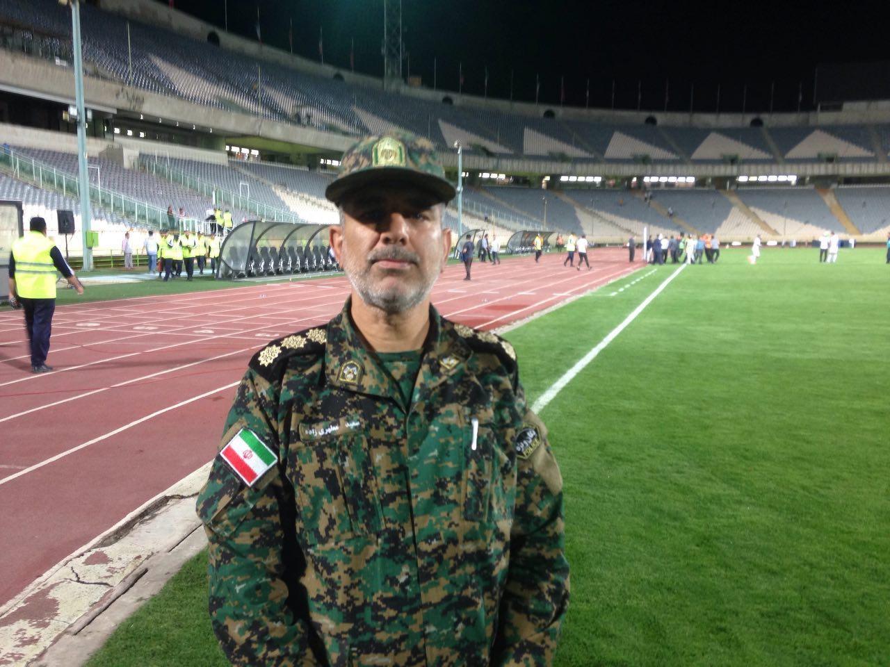 رییس یگان ویژه استادیوم آزادی: با کمک هواداران و خبرنگاران امنیت بازی را برقرار کردیم