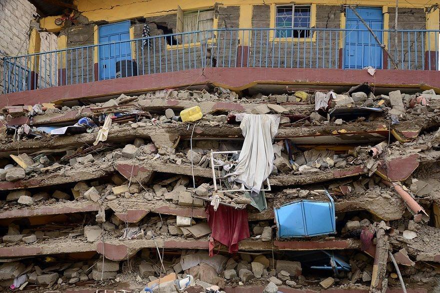 عکس | آوار بهجامانده از ریزش ساختمان ۷ طبقه در کنیا