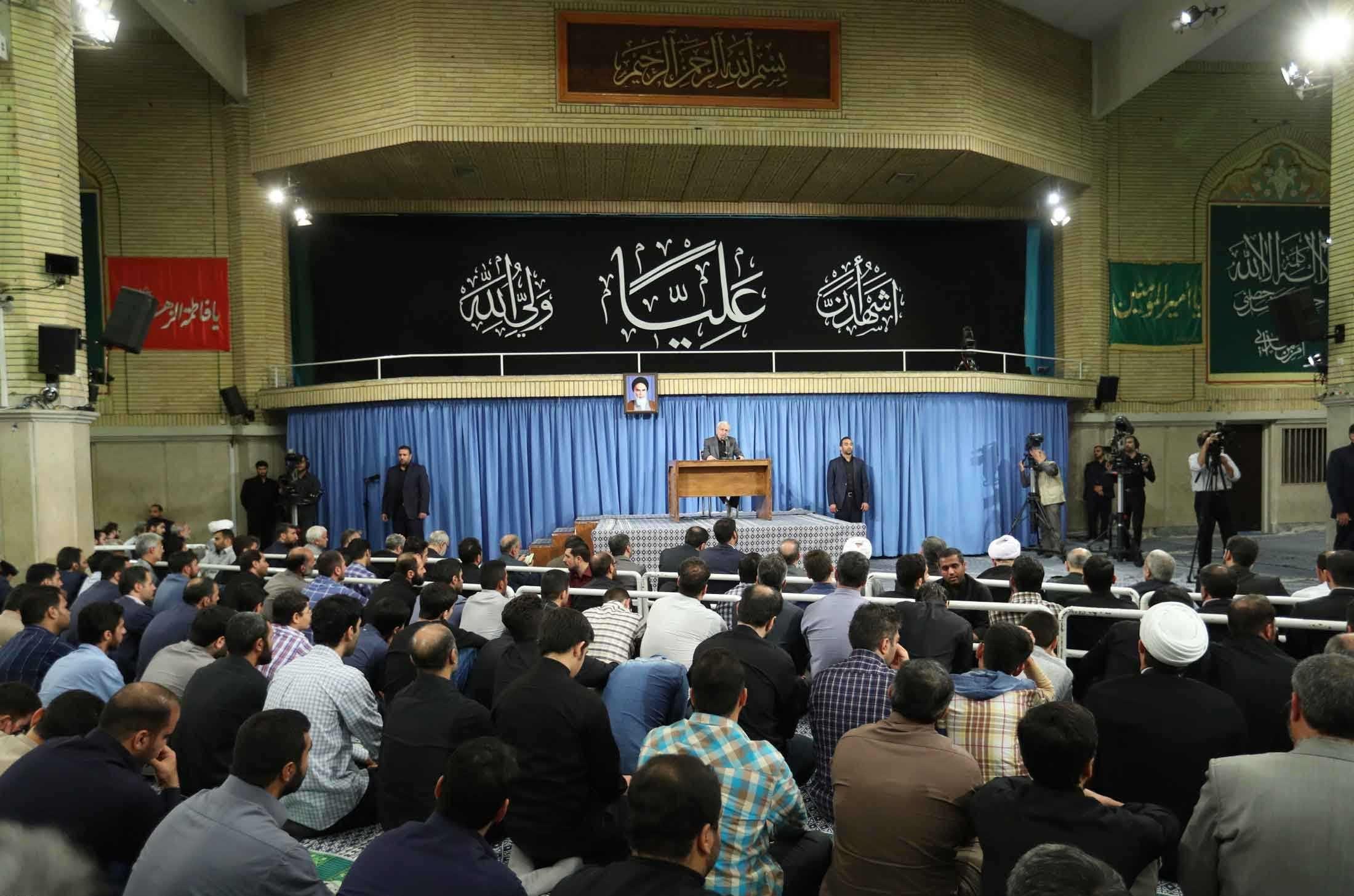 تصاویر | مراسم سوگواری امام علی(ع) در حضور رهبر انقلاب