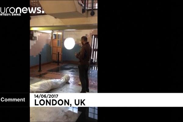 فیلم   تصاویری از فضای داخل برج سوخته گرنفل در لندن