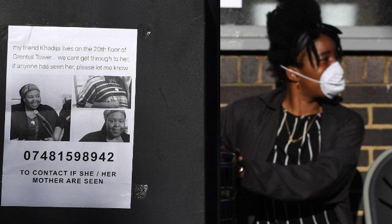 تصاویر مفقودین برج گرنفل بر دیوارهای لندن