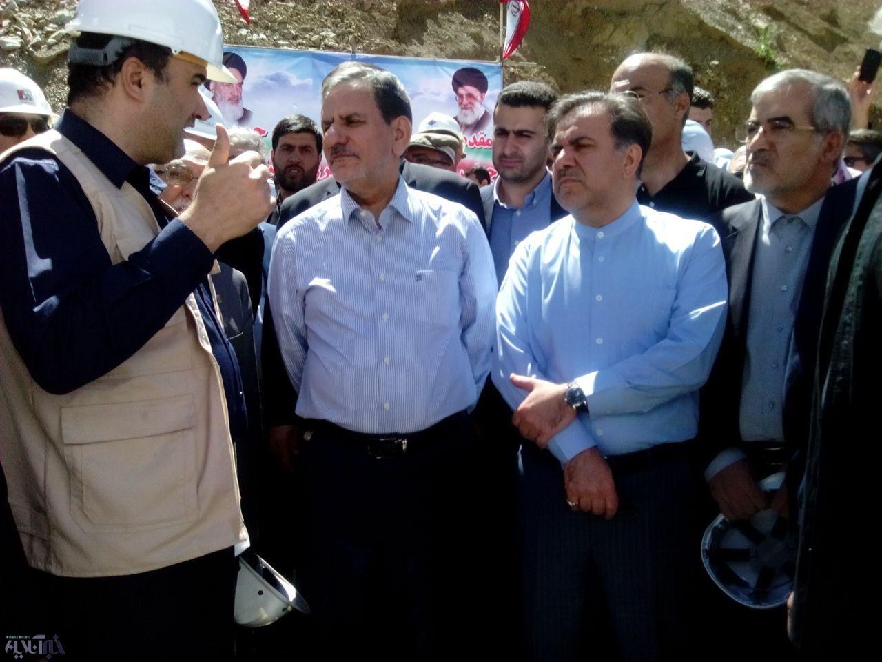 تصاویر   بازدید جهانگیری از آزادراه تهران-شمال در آستانه افتتاح قطعه اول