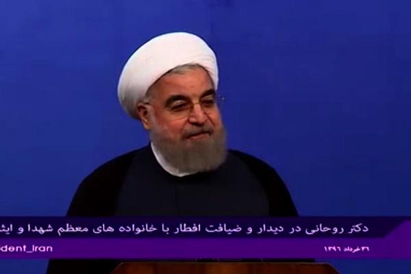 فیلم | روحانی: شهدا سرمایه ملی ما هستند | با زبانهایمان جهاد کنیم