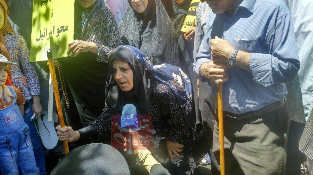 عکس | سالخوردهترین شرکتکننده در راهپیمایی روز قدس