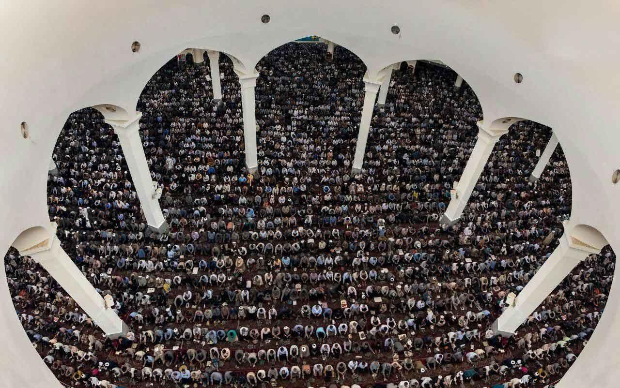 عکس | تصویر متفاوتی از مصلای قم در روز قدس
