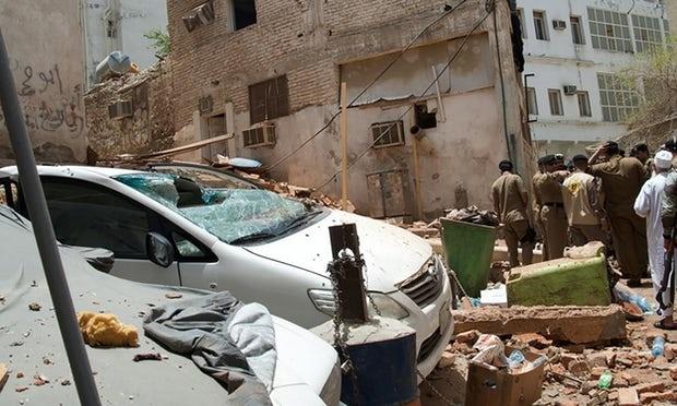 تصاویر جدید از خسارات انفجار انتحاری در مکه