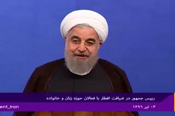 فیلم | روحانی: تقسیم جامعه به خوب و بد ما را به هدف نمیرساند