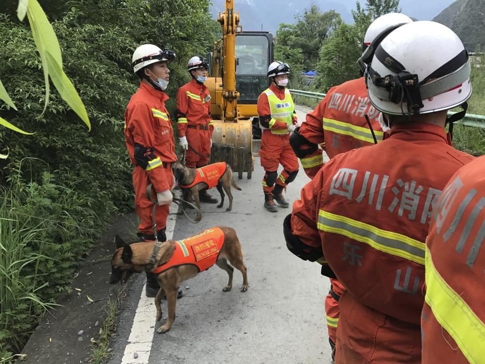 تصاویر | تلاش برای یافتن ۱۱٨ مفقود؛ یک روز بعد از ریزش مرگبار کوه در چین