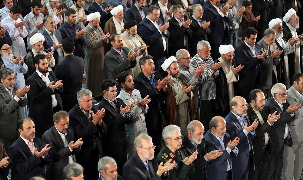 تصاویر | چهرههایی که در نماز عید فطر امسال حاضر شدند