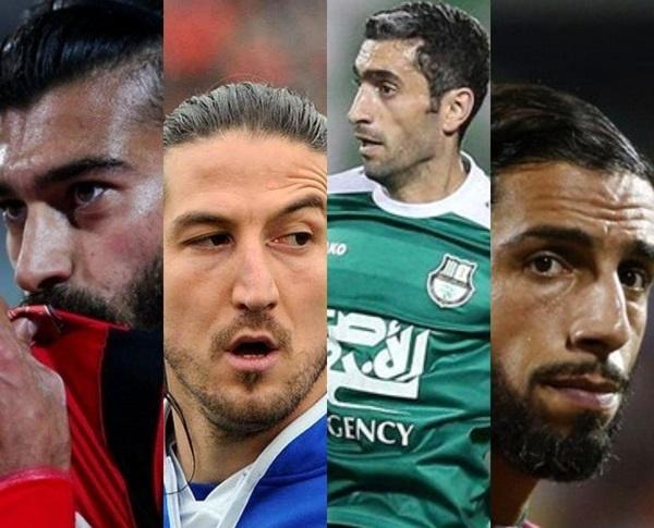 ۱۲ ستاره فوتبال ایران که بدون تیماند!