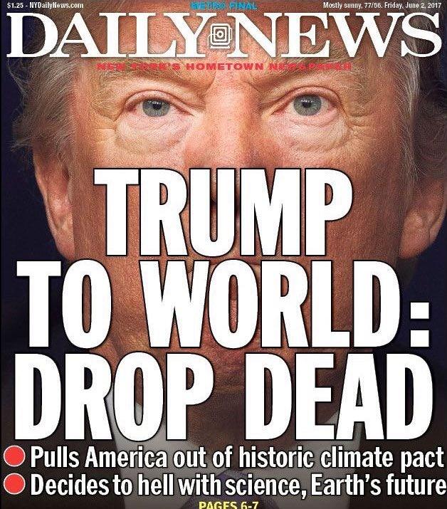 تصاویر   واکنشهای جهانی به تصمیم ترامپ برای خروج از توافق زیست محیطی پاریس