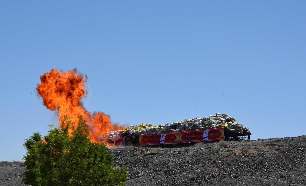 تصاویر   امحای ۳۰تن انواع موادمخدر غیردارویی در «بند دره»