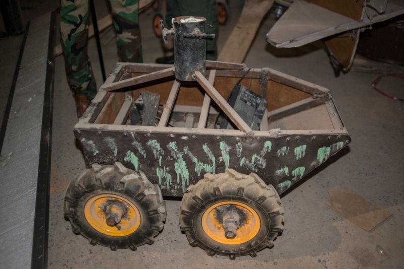 تصاویر کارگاه ساخت پهپاد داعش که در عملیات آزادی موصل کشف شد
