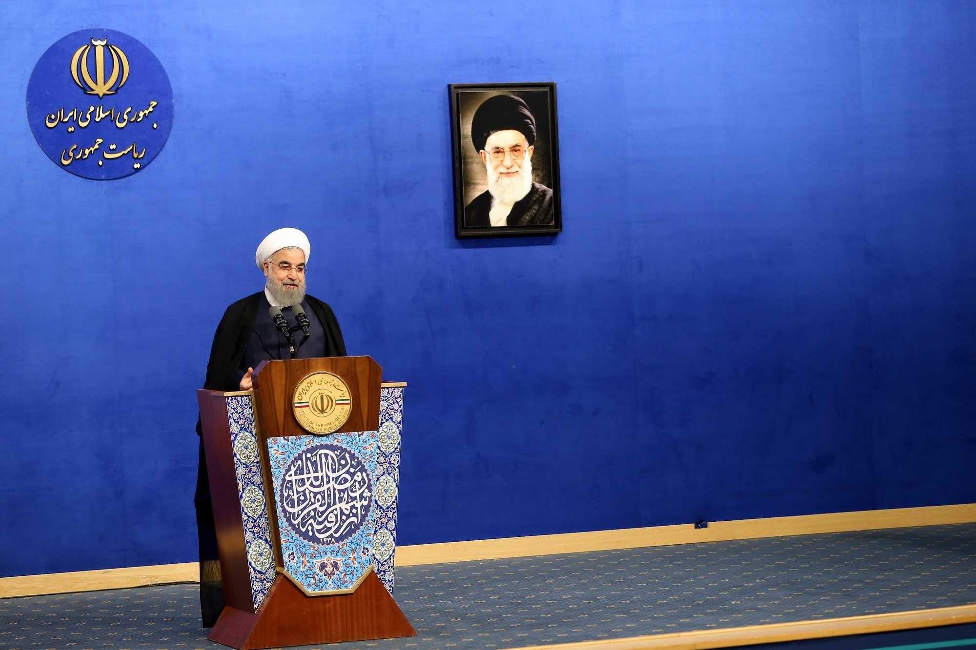 تصاویر | روحانی و لاریجانی در ضیافت افطار هیات دولت و نمایندگان مجلس
