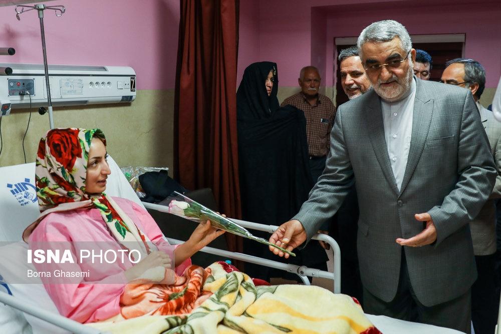 تصاویر | عیادت مسئولین از مجروحین حادثه تروریستی مجلس