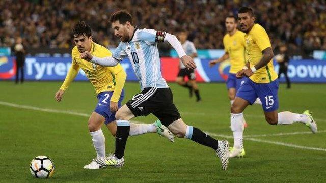 پیروزی آرژانتین مقابل برزیل در بازی دوستانه