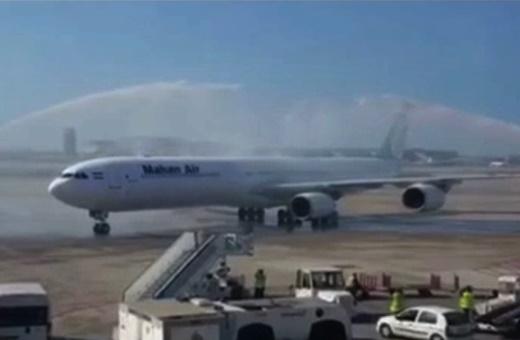 فیلم | استقبال از اولین پرواز مستقیم بین ایران و اسپانیا