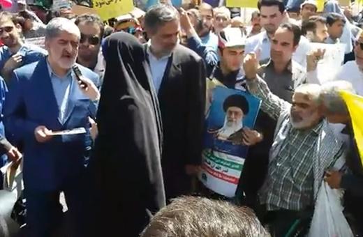 فیلم | حواشی حضور مطهری در راهپیمایی روز قدس | اهانت به نایب رئیس مجلس