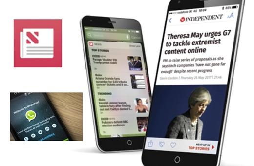 رویترز: پیام رسانهای موبایلی مانند واتساَپ در برخی کشورها منبع اصلی دریافت خبر شده است