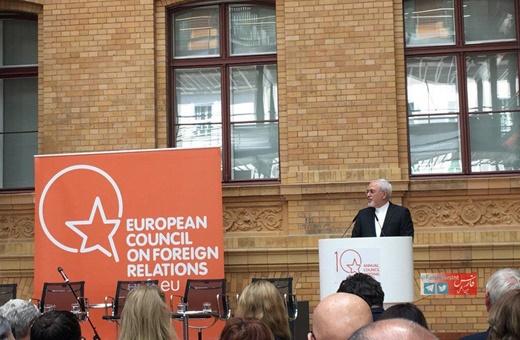 سخنرانی ظریف در شورای روابط خارجی اروپا/نیازمند یک مجمع امنیتی منطقهای در خلیج فارس هستیم