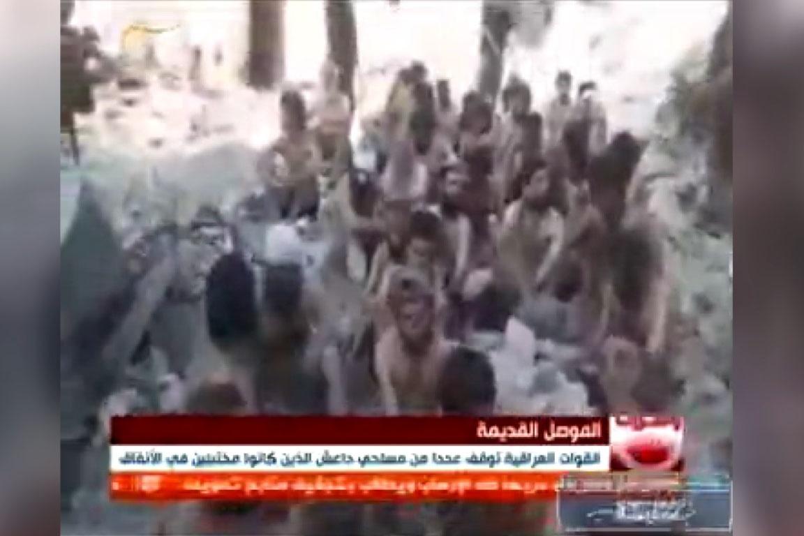فیلم | به اسارت درآمدن عناصر داعش در موصل