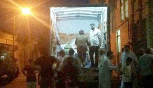 تصاویر   انتقال زن ۳۰۰کیلویی قمی به بیمارستان با خاور