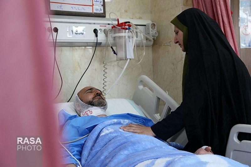 تصاویر | آخرین تصاویر از روحانی مضروب در مترو شهرری در بیمارستان