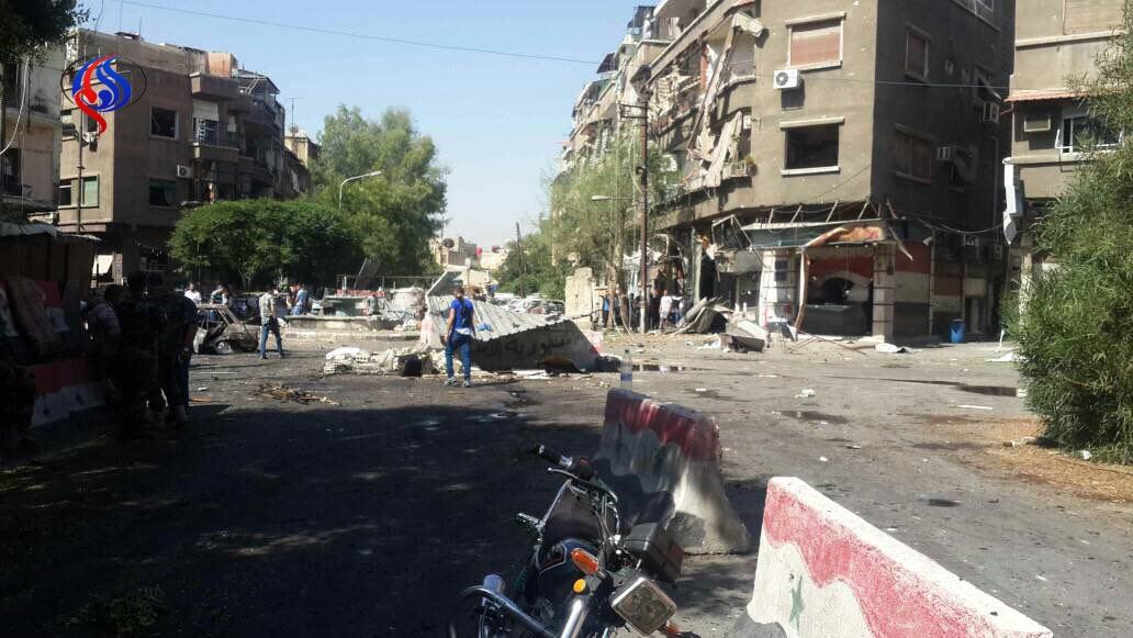 تصاویر   وضعیت دمشق بعد از انفجارهای تروریستی صبح امروز