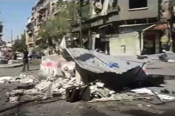 فیلم | حمله تروریستی در دمشق با ۳خودرو | انفجار عامل انتحاری در میدان تحریر