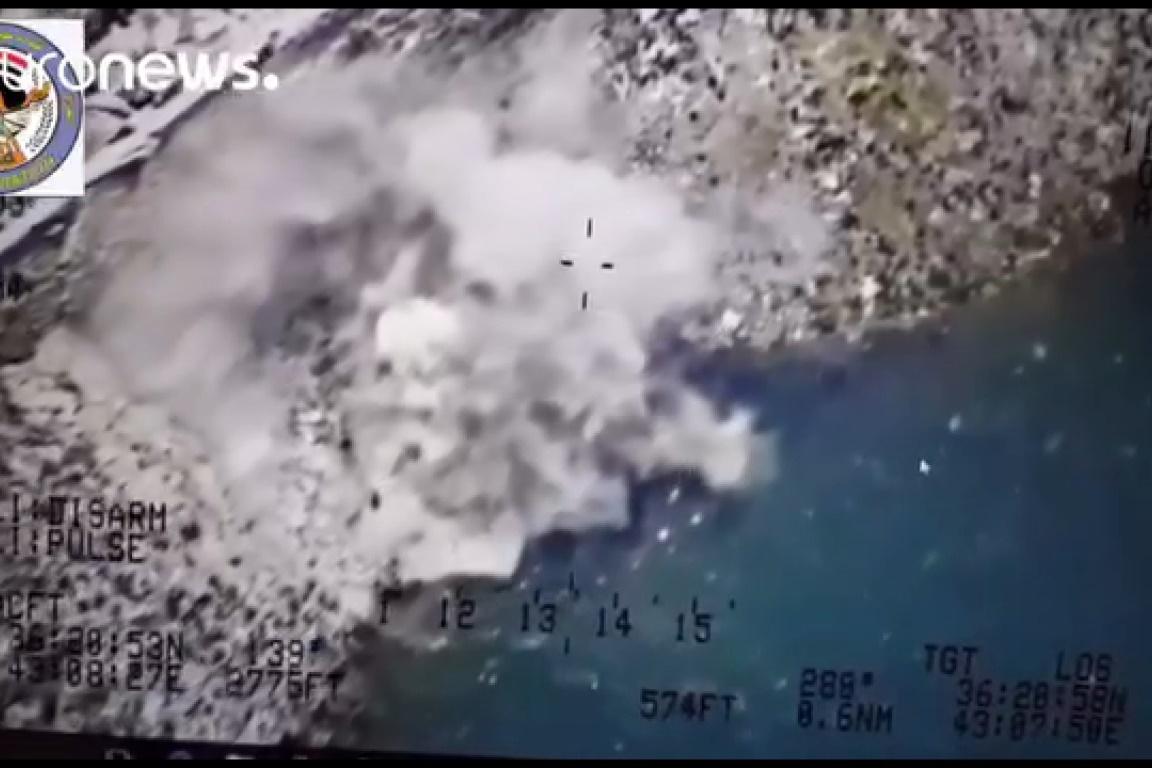 فیلم | تیراندازی هلیکوپتر عراقی به داعشیهای فراری در ساحل دجله