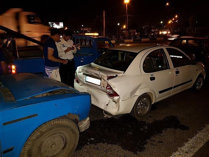تصاویر | تصادف زنجیرهای ۶خودرو در جاده خاوران